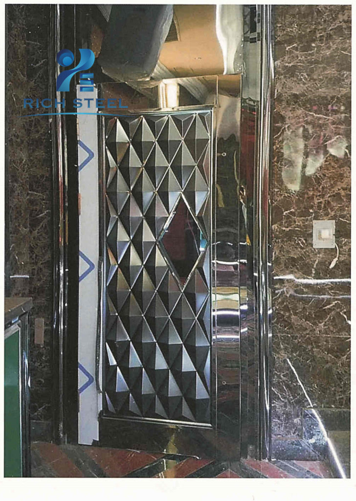 2018 Gold Color Staniless Steel Security Door Entrance