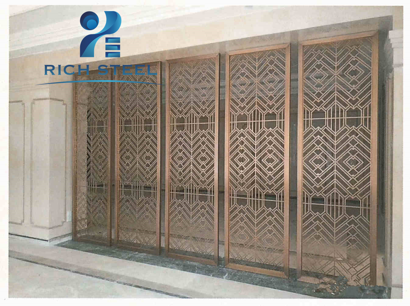 Swell Stainless Steel Metal Floor To Ceiling Room Dividers Hotel Home Interior And Landscaping Palasignezvosmurscom