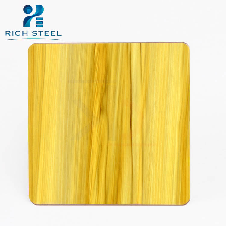 Heat Coloring Stainless Steel Textured Steel Plate Ss304 ...
